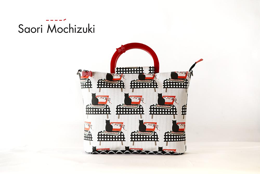Saori Mochizukiの新作バッグ・Stay Home・猫柄