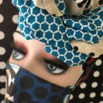 吉祥寺受注会(16):青いコサージュの新柄・2020年秋の新作受注会