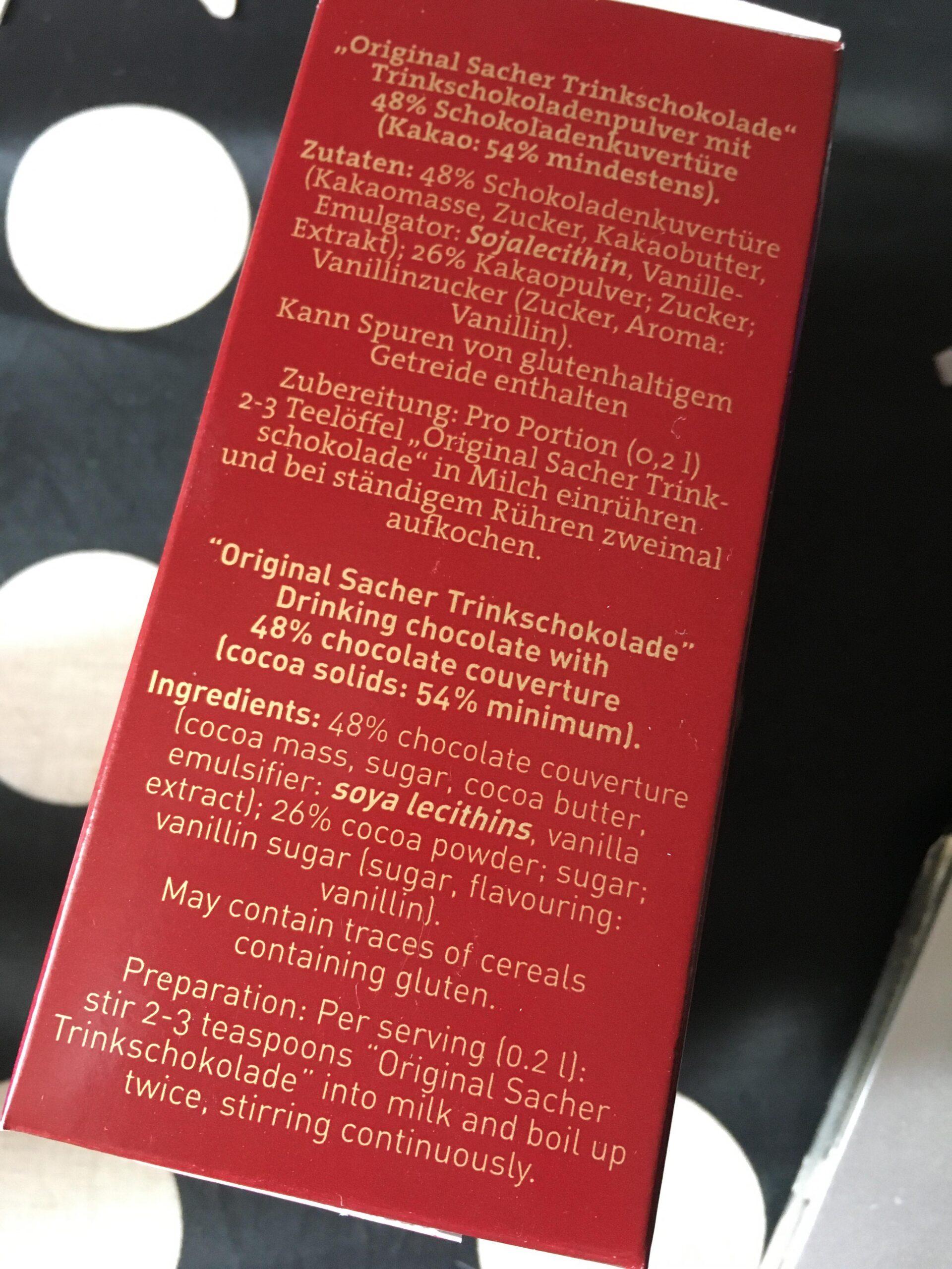 ホテルザッハーのオリジナルチョコレートドリンク