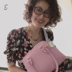 オーダー品:桜色の牛革ミニボストンバッグ