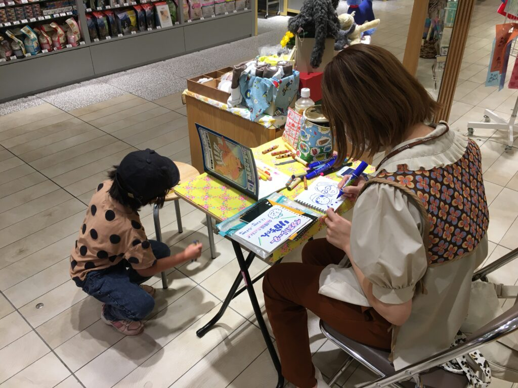 イラストレーターりかちゃんの似顔絵イベント@渋谷ヒカリエ